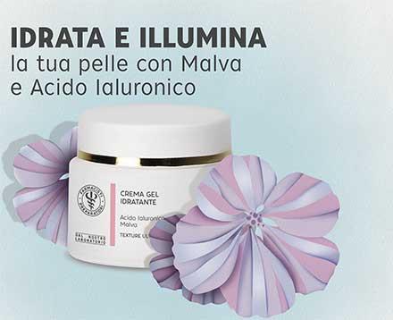 Crema gel idratante con malva e acido ialuronico