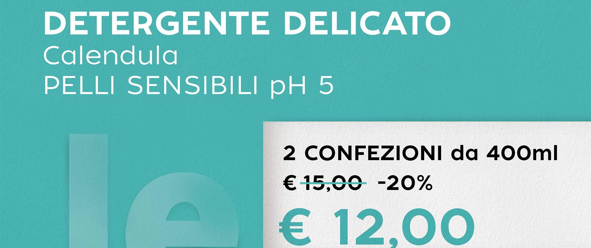 DETERGENTE DELICATO Calendula PELLI SENSIBILI pH 5
